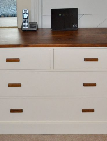 Deanery Heritage 4ft 2/2 Chest of Drawers with Pine Walnut Top