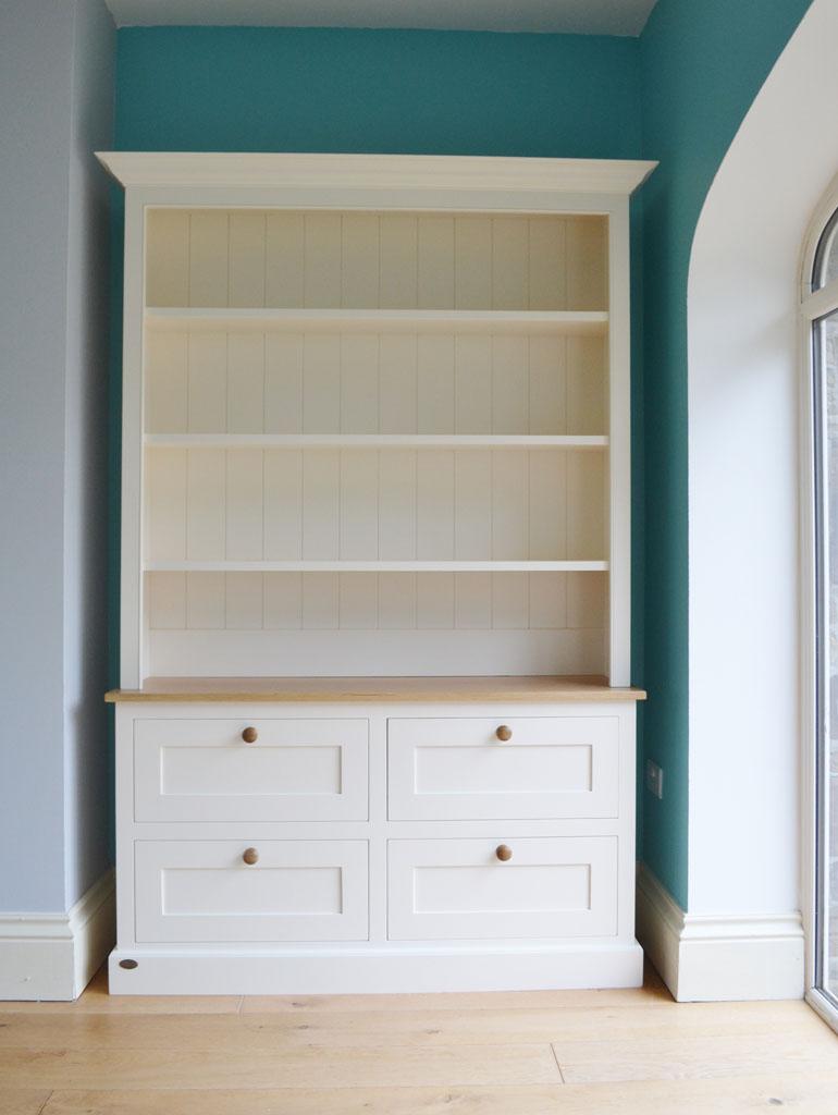 DBD4005 - Deanery 5ft Charlotte Rose Oak top Drawer bookcase