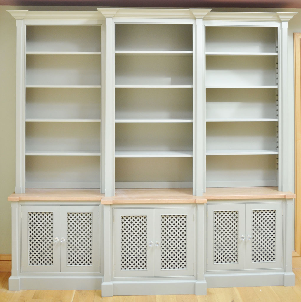 Deanery 8ft Grand Brake Front, Oak Top Bookcase