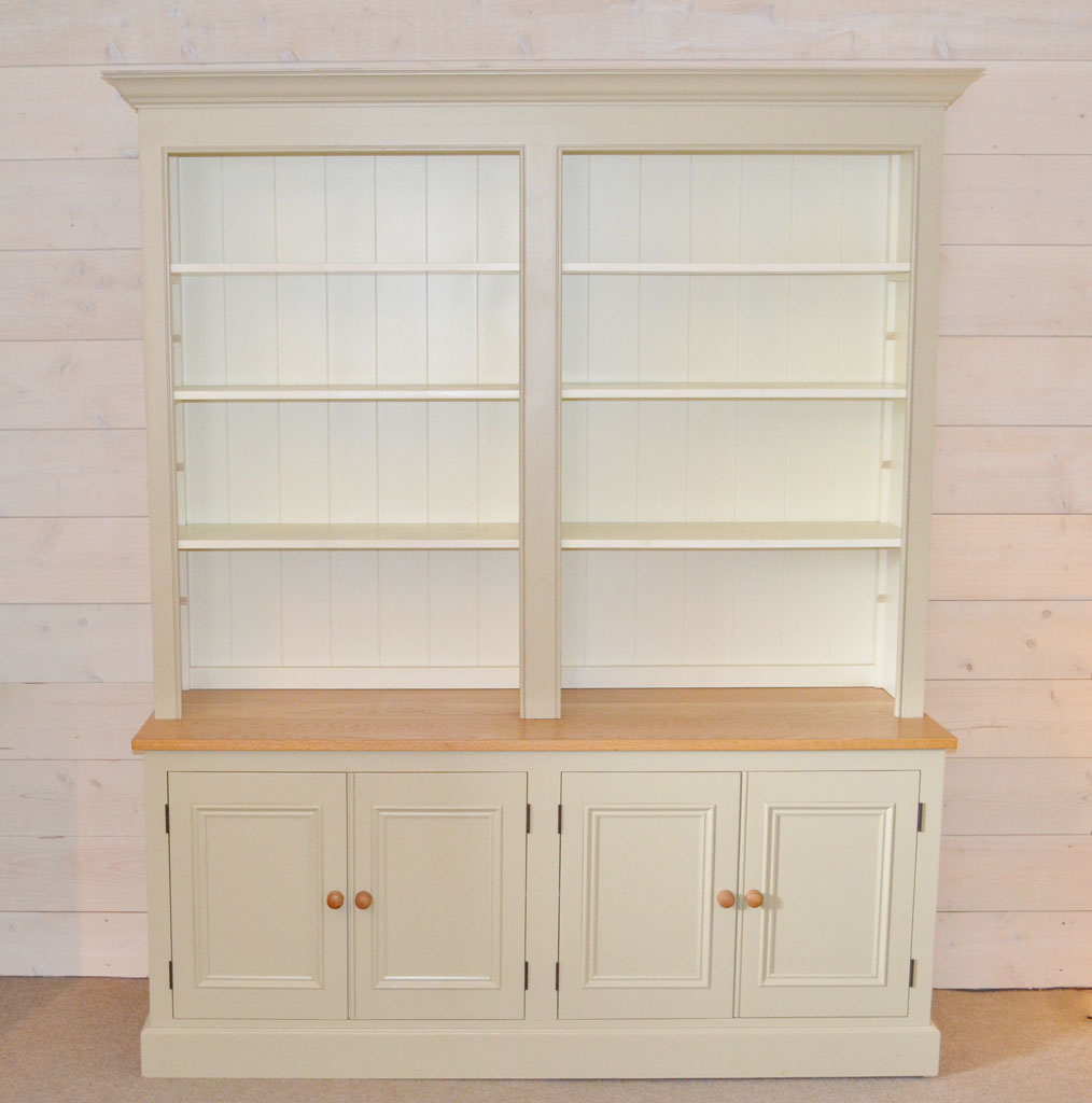 DBD4009 - Deanery 6ft Charlotte Rose Oak Top Bookcase with hand-painted finish