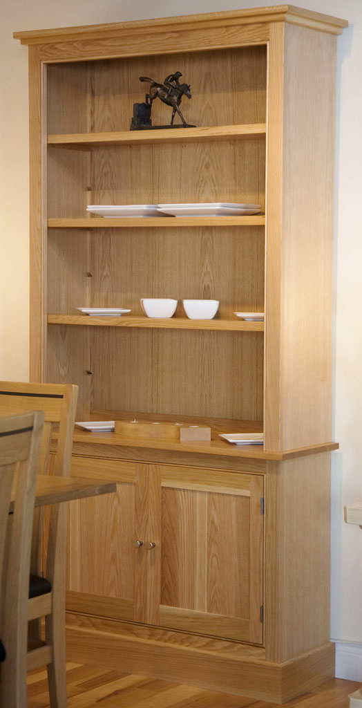 Deanery Kingswood 2 Door Oak Bookcase