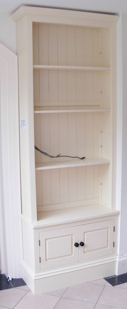 Deanery Fitted 2 Door Adjustable Bookcase with hand-painted finish