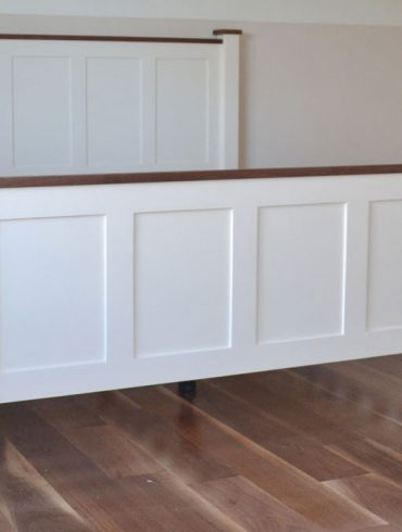 6ft Deanery Shaker Style with Walnut Coping and hand-painted finish