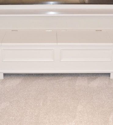 Deanery Low Window Bench with Seat and Storage and hand-painted finish