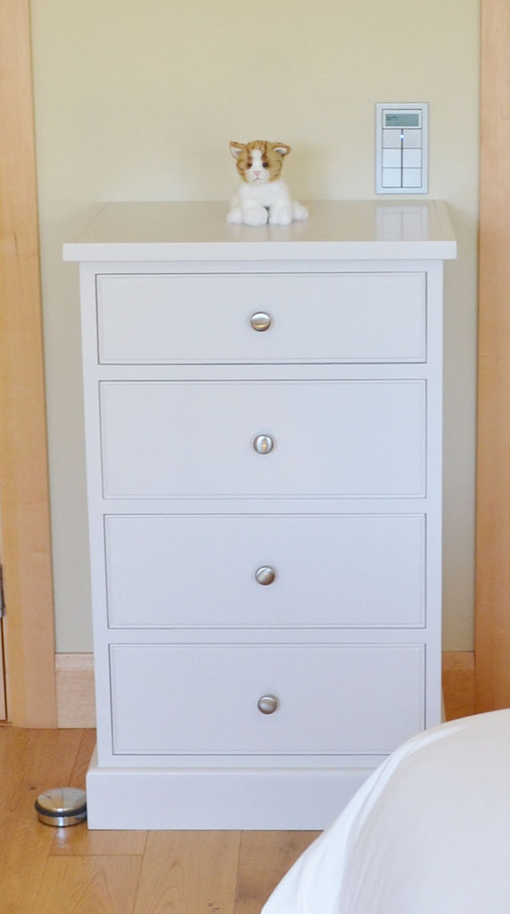 Deanery Heritage 4 Door Tallboy with hand-painted finish