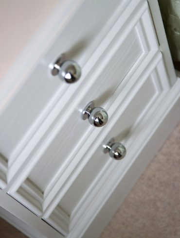 Deanery Heritage 3 Drawer Locker with Chome Knobs and hand-painted finish