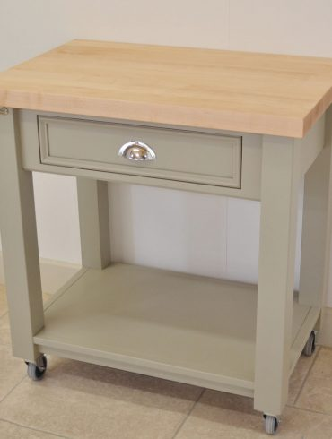 Deanery Maple Chopping Block Unit on Castors 6