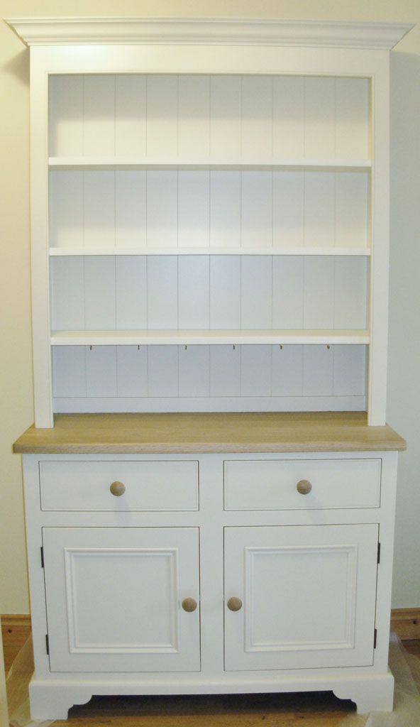 DCD3065 - Deanery Cottage Dresser with Oak Top and hand-painted finish