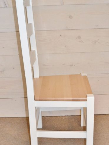 Amish Hardwood Chair with Hand-painted finish