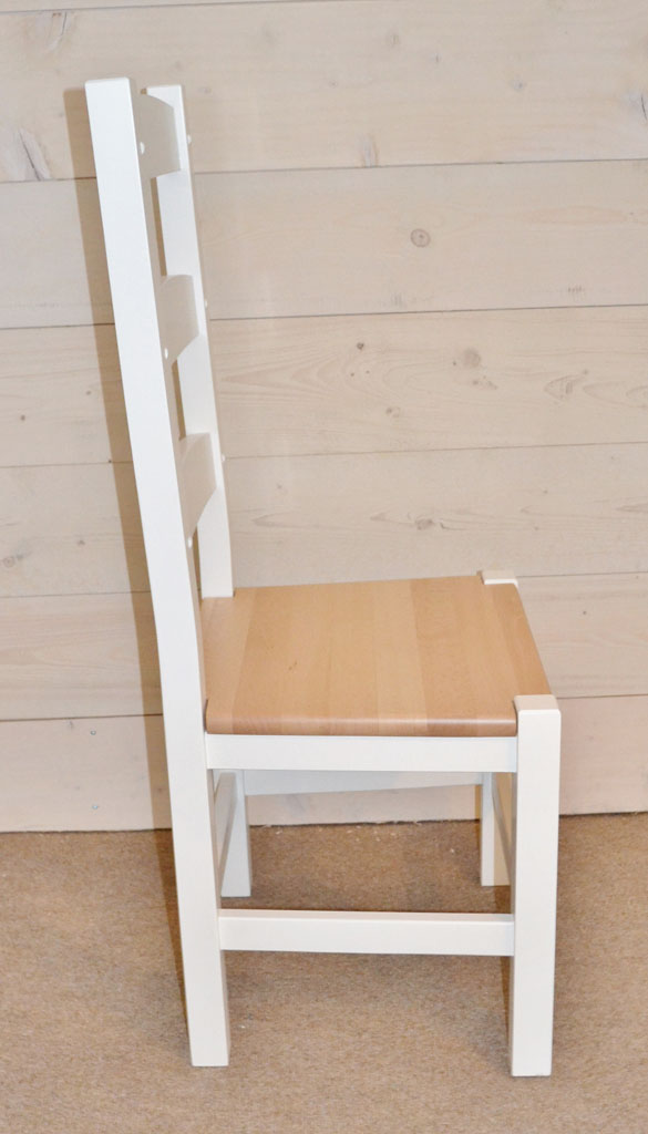 DCH3202 - Amish Hardwood Chair with Hand-painted finish