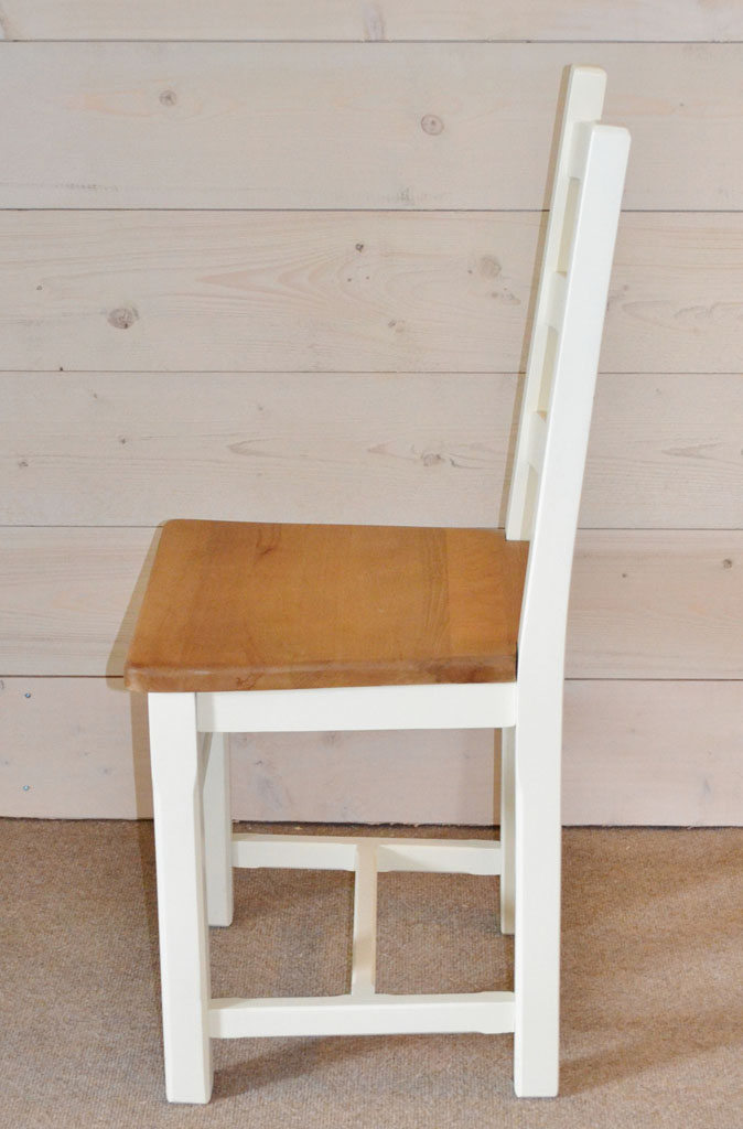DCH3204 - Provence Harwood Chair with hand-painted finish