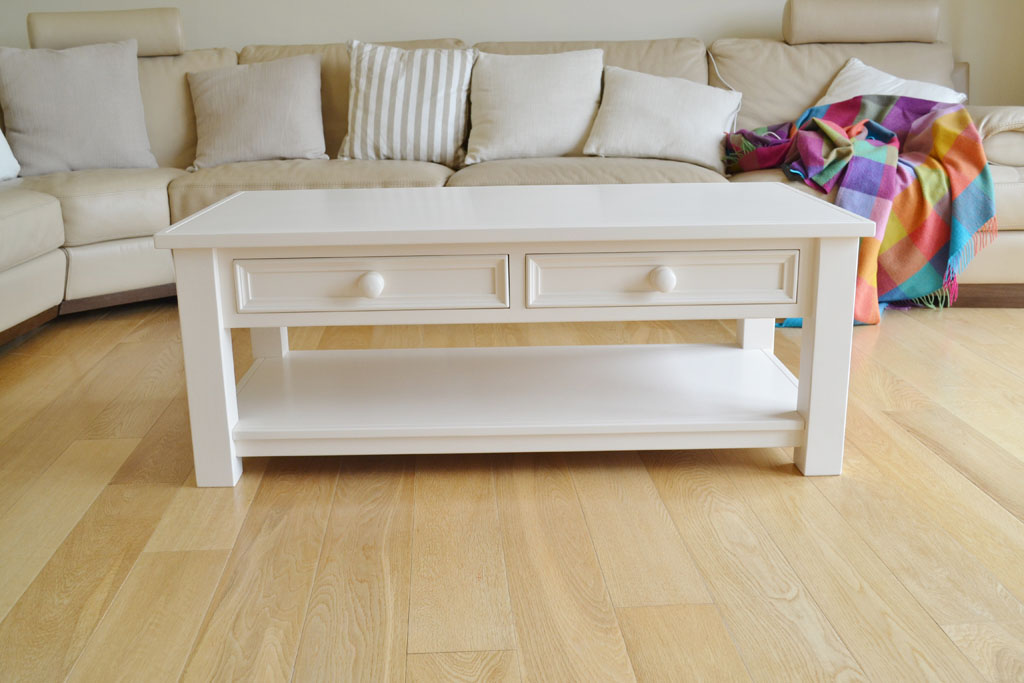 Aishling 2 Drawer Coffee Table with hand-painted finish
