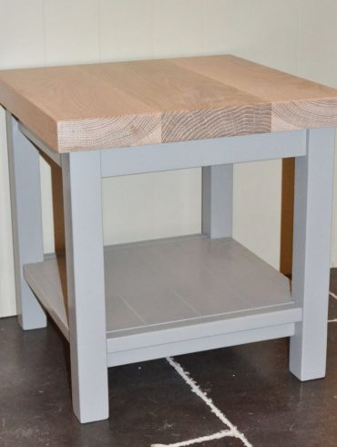 Deanery Small Coffee Table with Oak Top and hand-painted finish