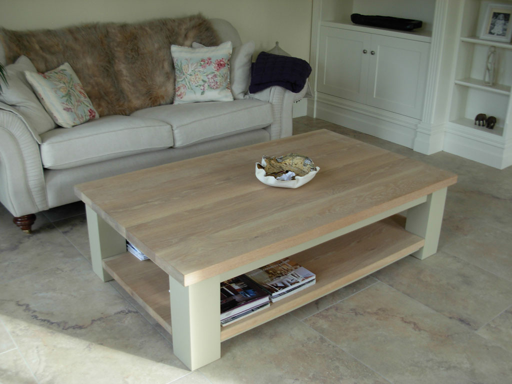 Deanery Large Solid Oak Top Coffee Table