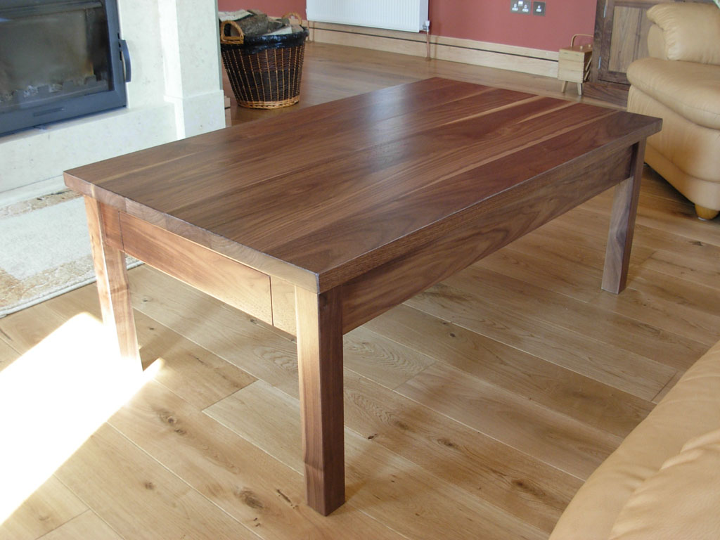 Deanery Walnut Coffee Table with Table-end Drawer