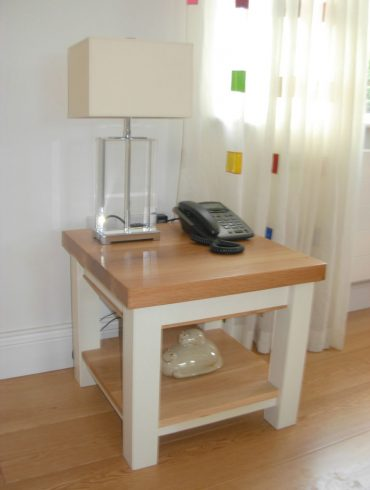 Deanery Coffee Table with Oak Top and hand-painted finish