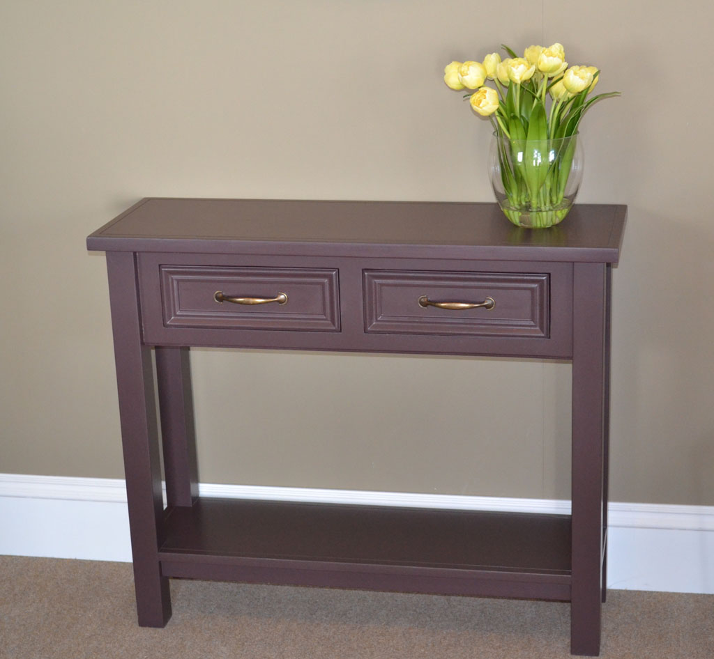 New England Console Table with hand-painted finish