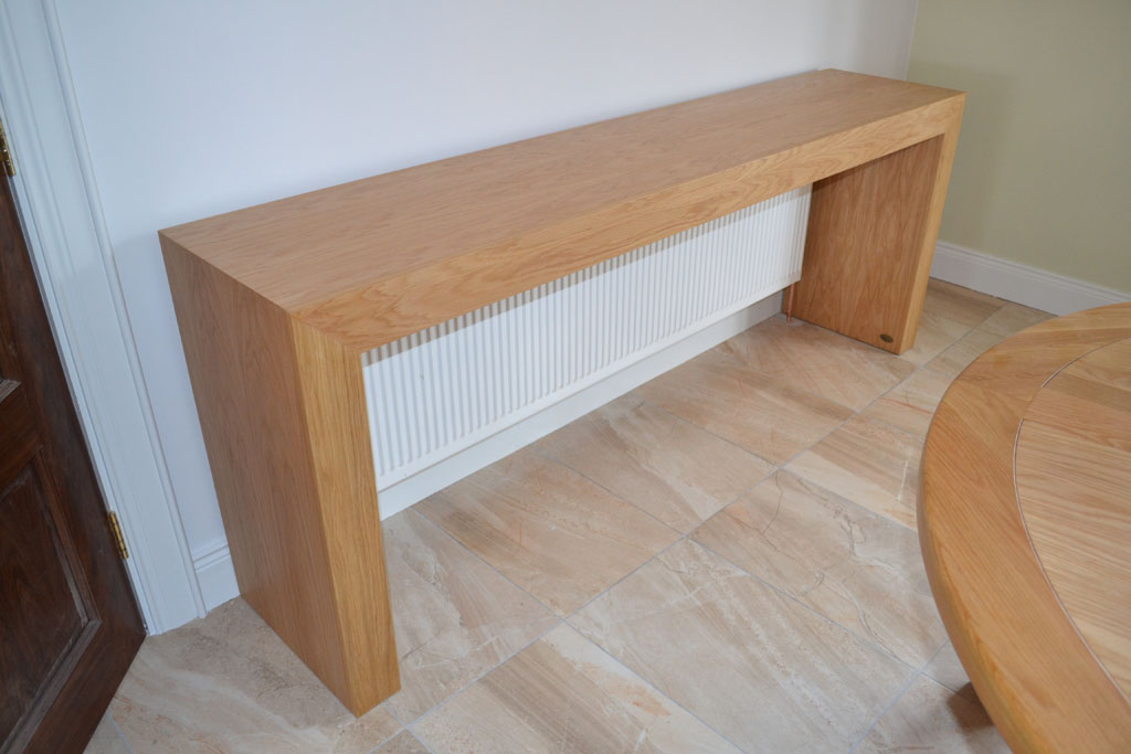 Deanery Oak Console Table Radiator Cover