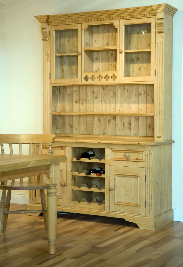 Deanery 5ft Pine Ducal Dresser with Wax Finish
