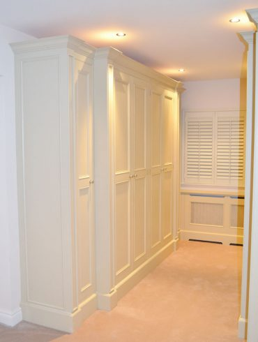 Deanery Handcrafted Wardrobe and Radiator Cabinets with hand-painted finish
