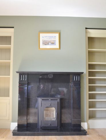 Deanery Bookcase with adjustable Shelving and hand-painted finish