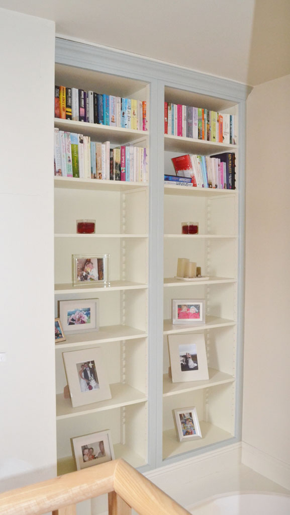 DFF2010 - Deanery Bespoke 2 Bay Bookcase with Adjustable Shelving and hand-painted finish