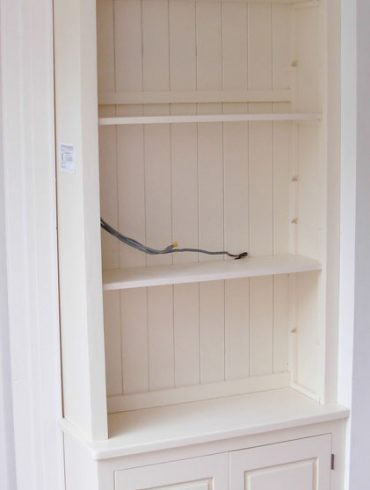 Deanery Bespoke 2 Door Cabinet with Adjustable Shelving and hand-painted finish