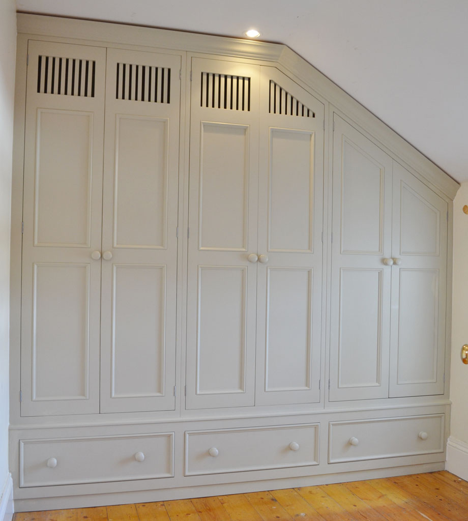 Deanery Dormer Style Wardrobe with hand-painted finish