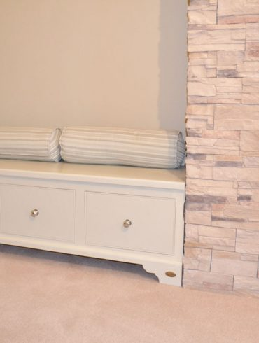 Deanery Alcove Fitted Bench with Drawer Storage and hand-painted finish
