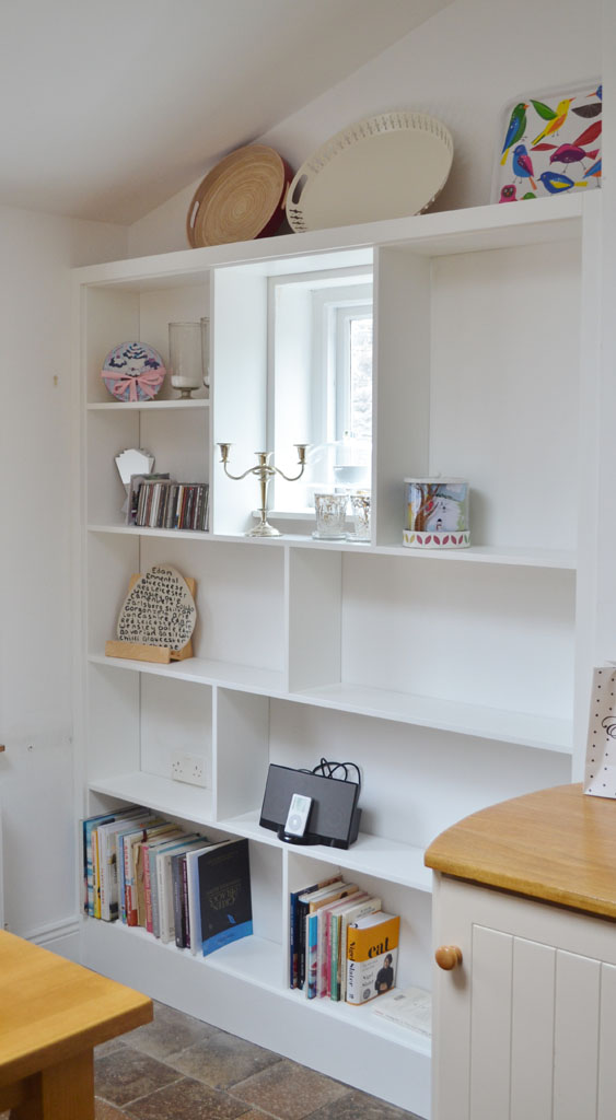 Deanery Narrow Alcove Bookcase with hand-painted finish