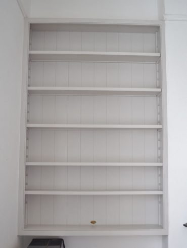 Deanery Wall Bookcase with Adjustable Shelves and hand-painted finish