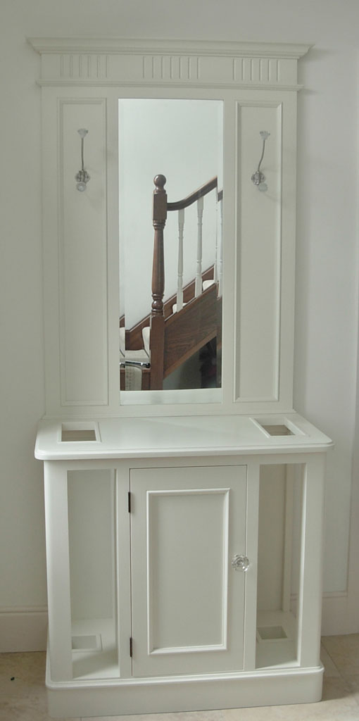 Deanery New England Coat Stand with Door and hand-painted finish