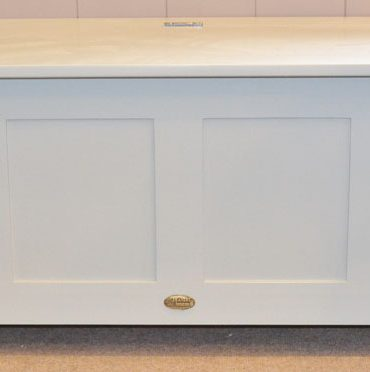 Deanery Table Bench with Storage and hand-painted finish