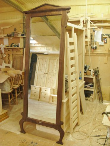 Deanery Bespoke Solid Walnut Full Length Floor Standing Mirror