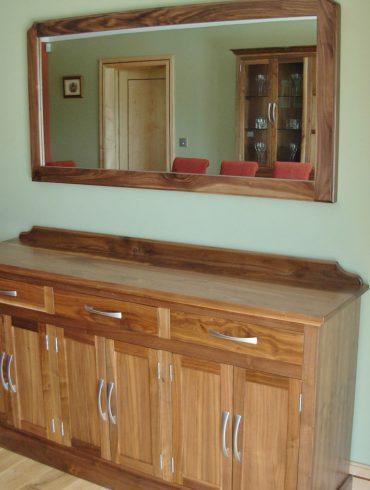 Deanery Solid Walnut Wall Mirror