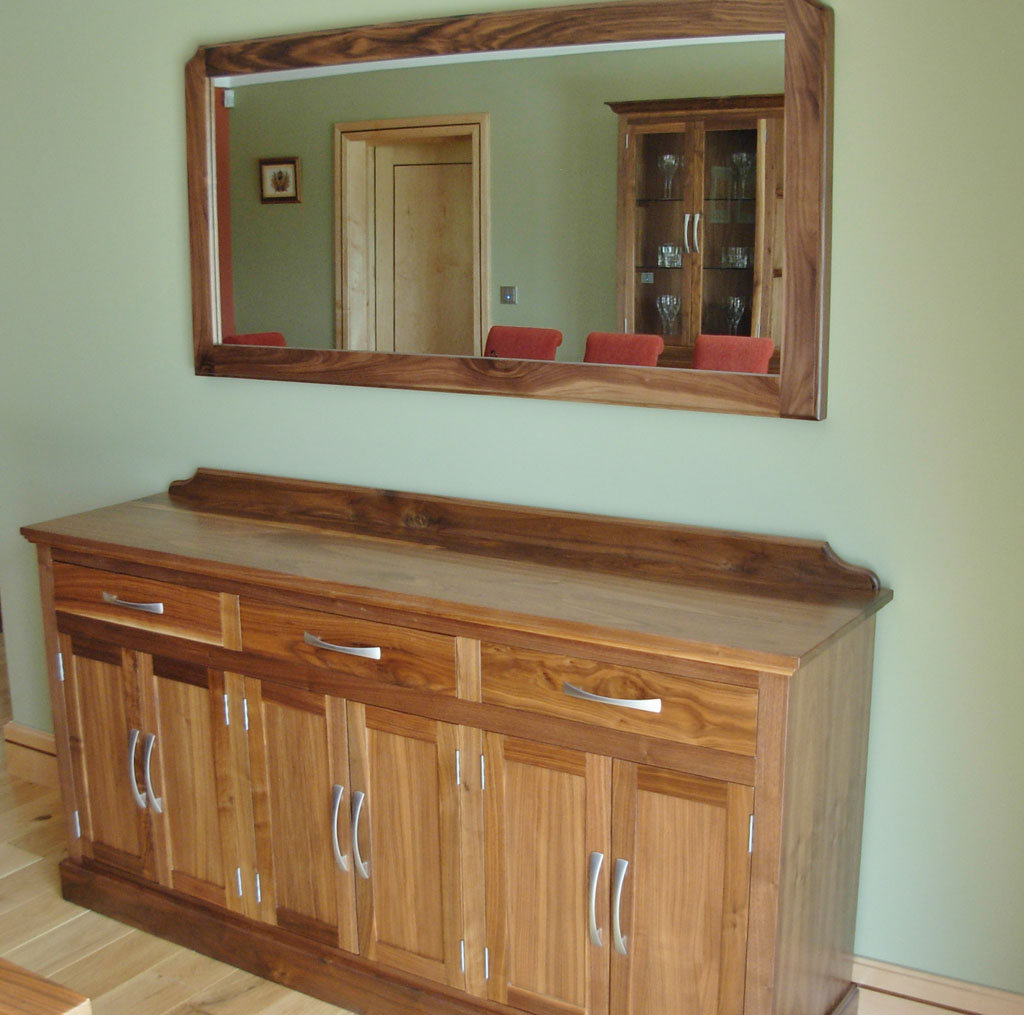 Deanery Solid Walnut Wall Mirror