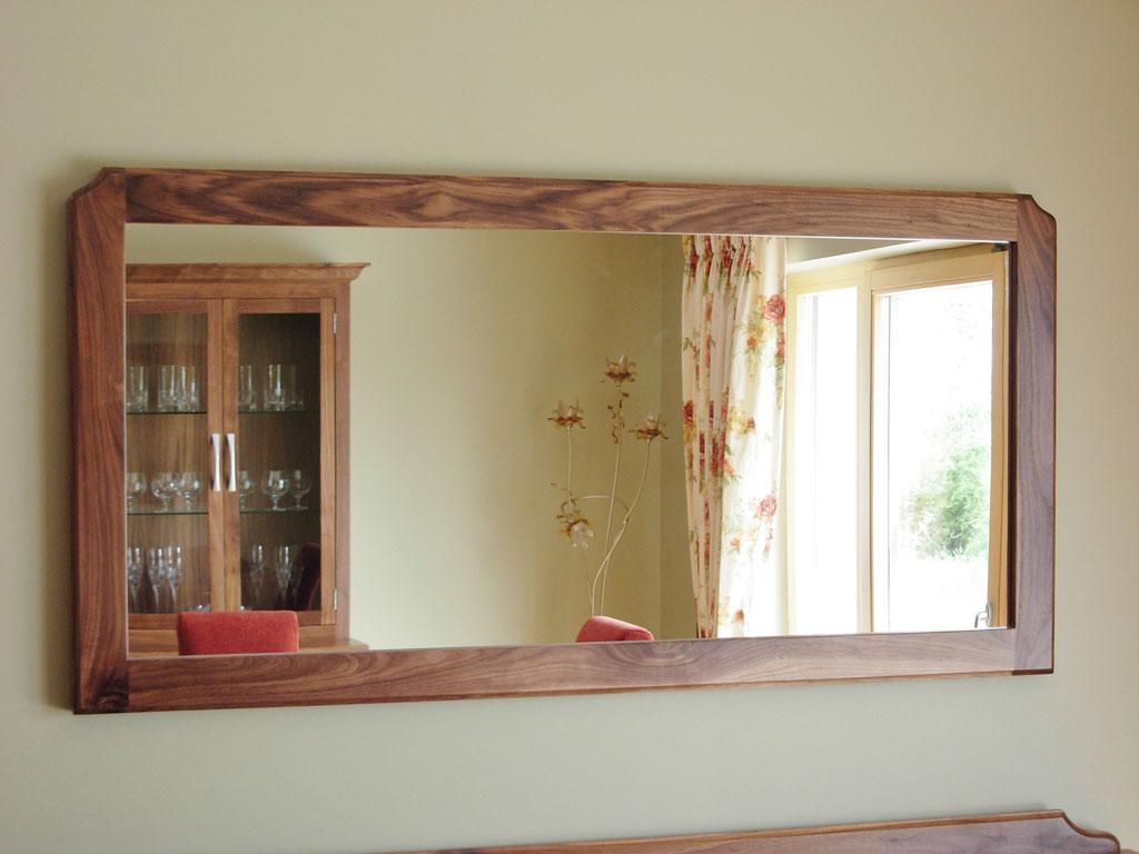 DHM7301 - Deanery Solid Walnut Wall Mirror