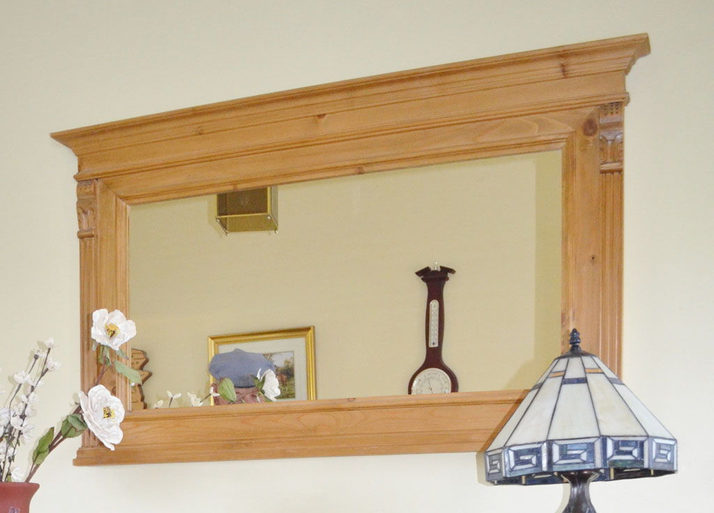 Deanery Pine Waxed Mirror