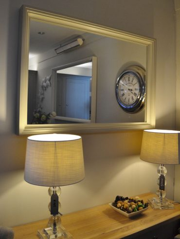 Deanery Clifton Wall Mirror with hand-painted finish
