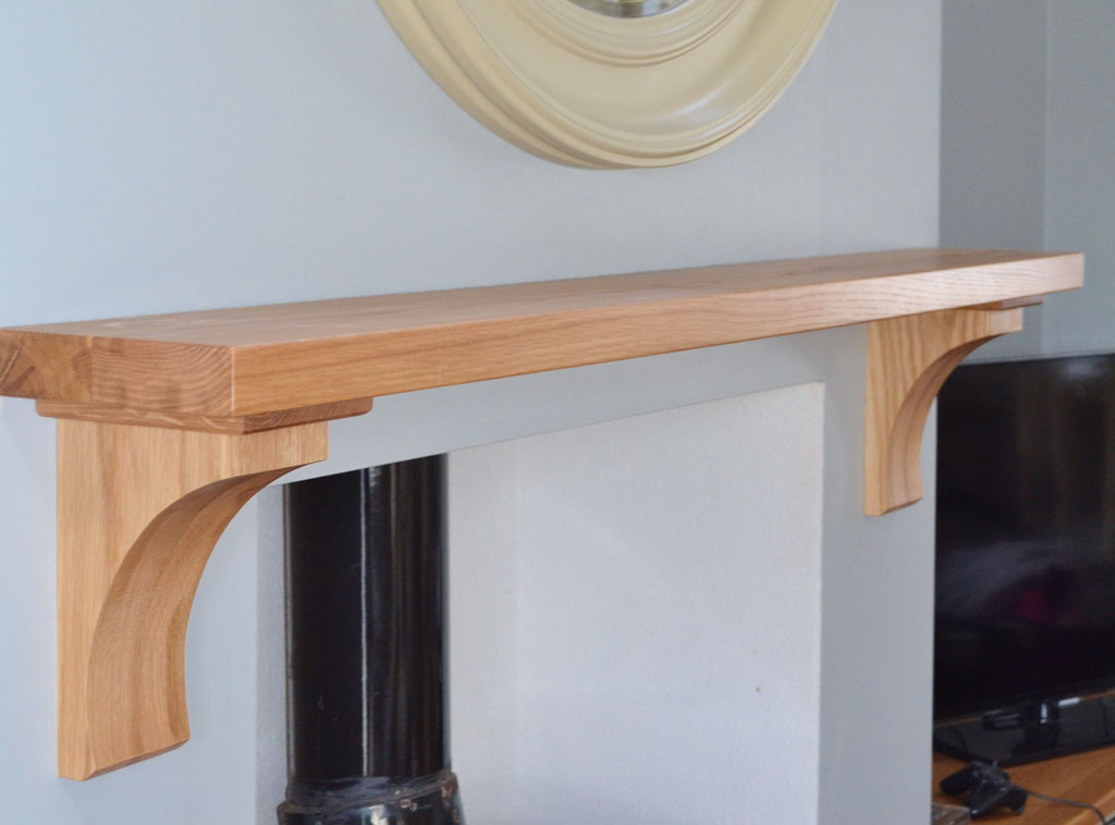 "Deanery Contemporary 2""Oak Mantle"