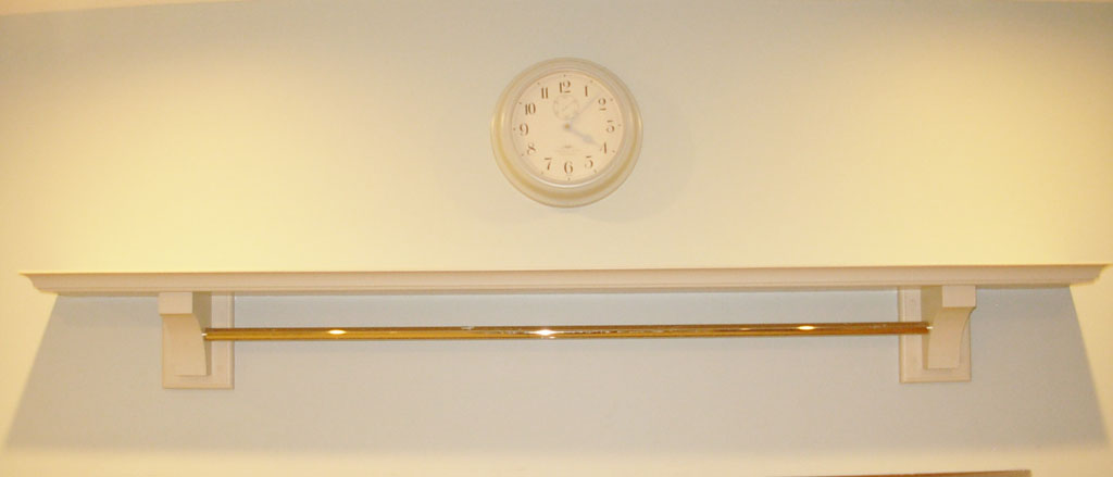 Deanery Contemporary Painted Mantle with Chrome Bar