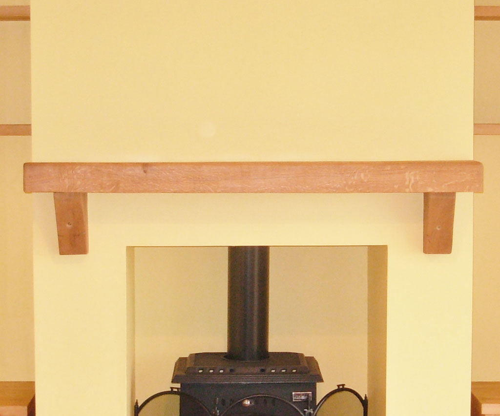 "Deanery Traditional 6"" Beech Mantle"
