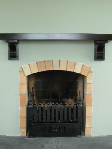 """Deanery Traditional 4"""" Dark Stain Pine Mantle with Corbels"""