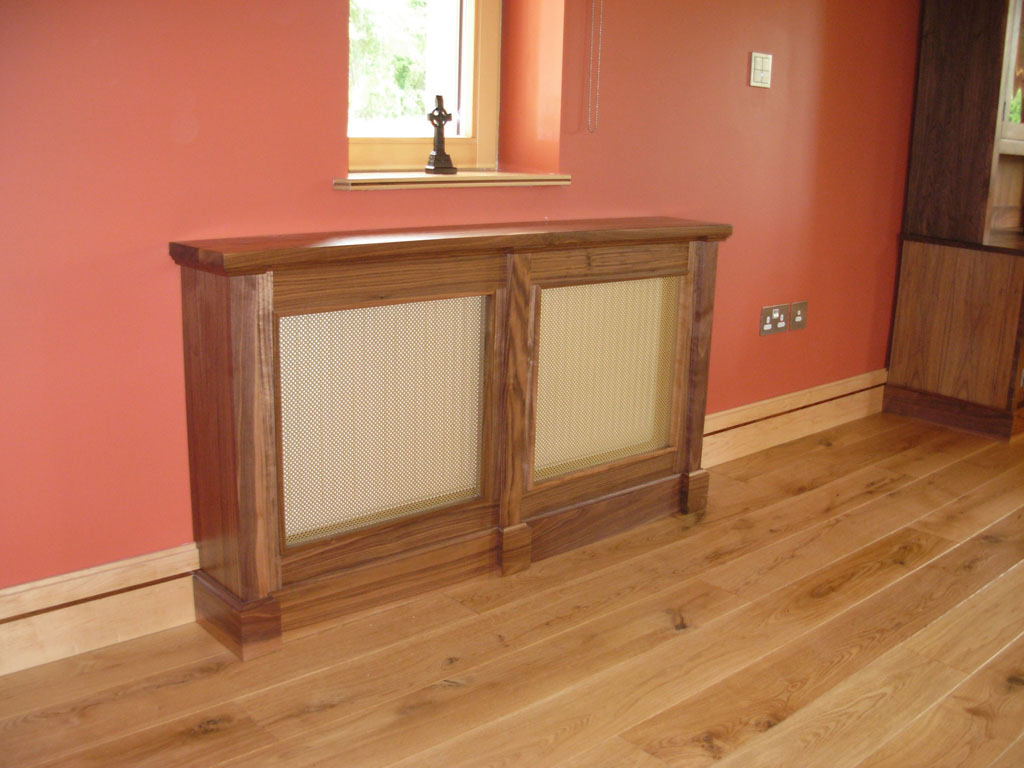 Deanery Bespoke Solid Walnut Radiator cover with Brass Grill
