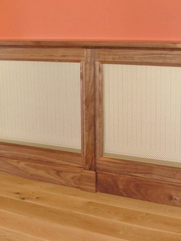 Deanery Bespoke Large Solid Walnut Radiator Cover with Brass Grill