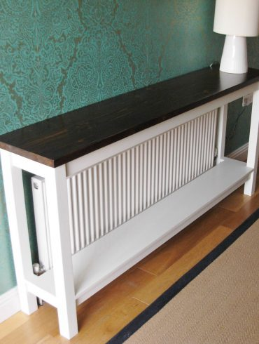 Deanery Hall Table Radiator Cover with Shelf and hand-painted finish