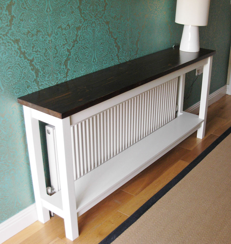 DHR7109 - Deanery Hall Table Radiator Cover with Shelf and hand-painted finish
