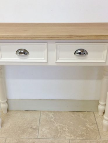 Deanery Oak Hall Table Radiator Cover with hand-painted finish