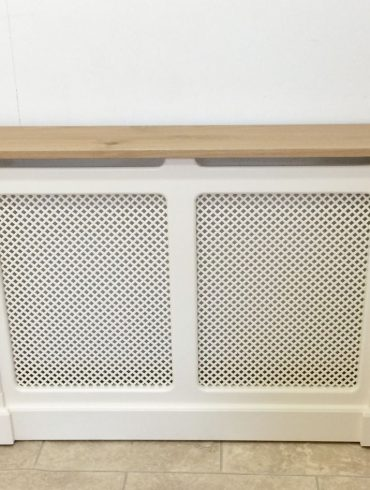 Deanery Clifton Oak top Radiator Cover with hand-painted finish
