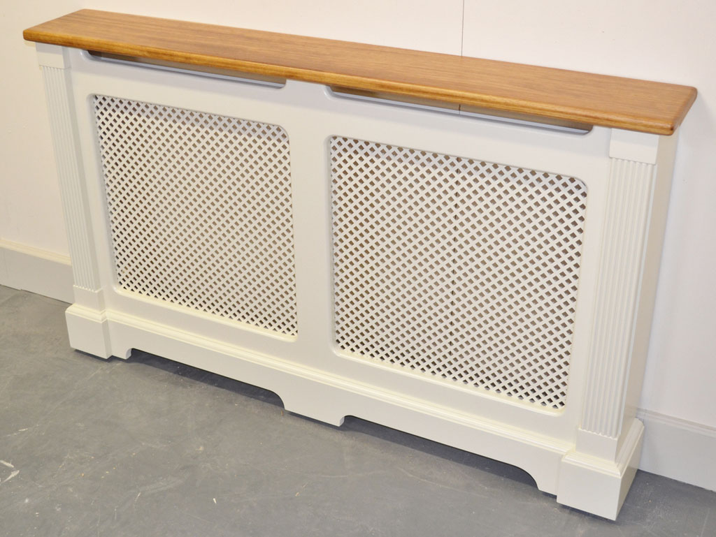 Deanery Oak Top Clifton Double Vent Radiator Cover